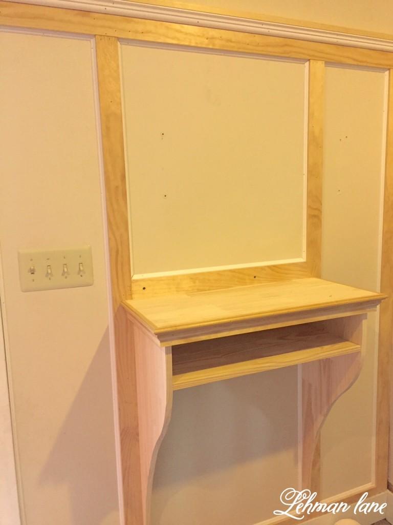 Built in Entryway Table
