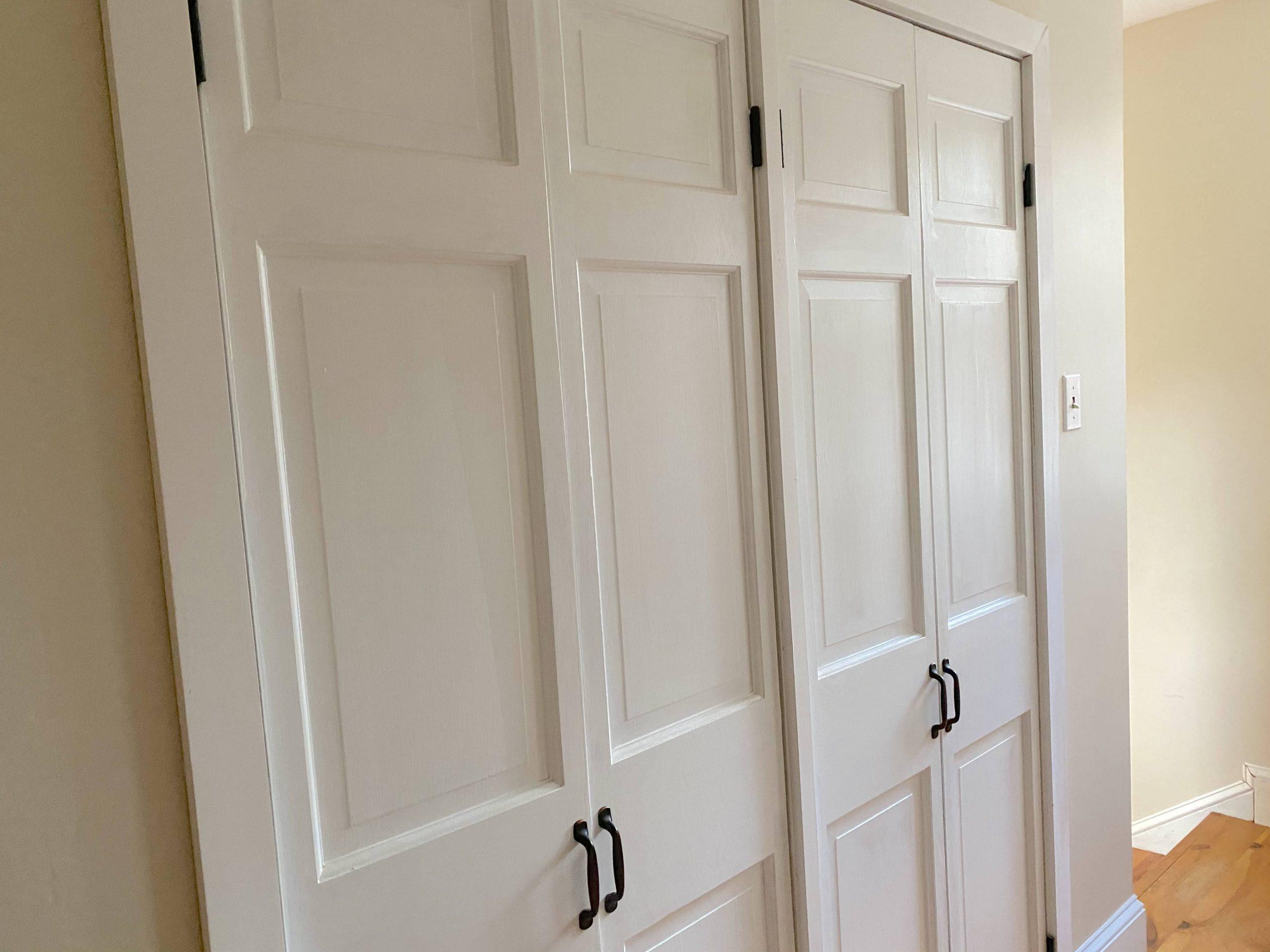 diy bi fold closet door makeover on a