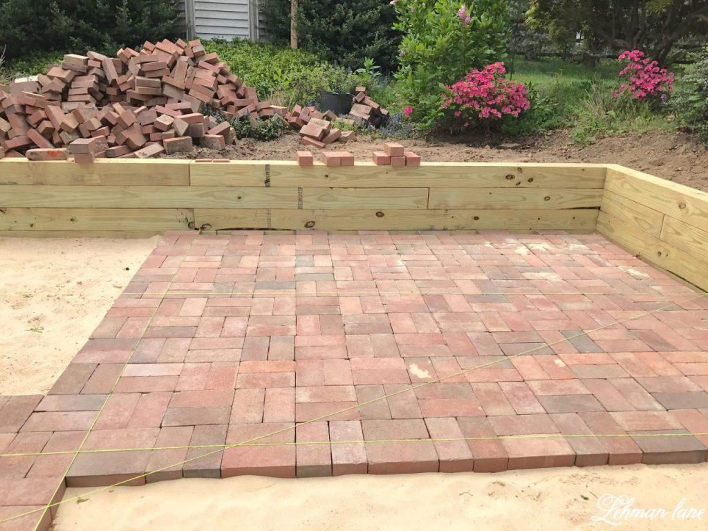 DIY Brick Patio - Lehman Lane on Backyard Brick Patio id=65497