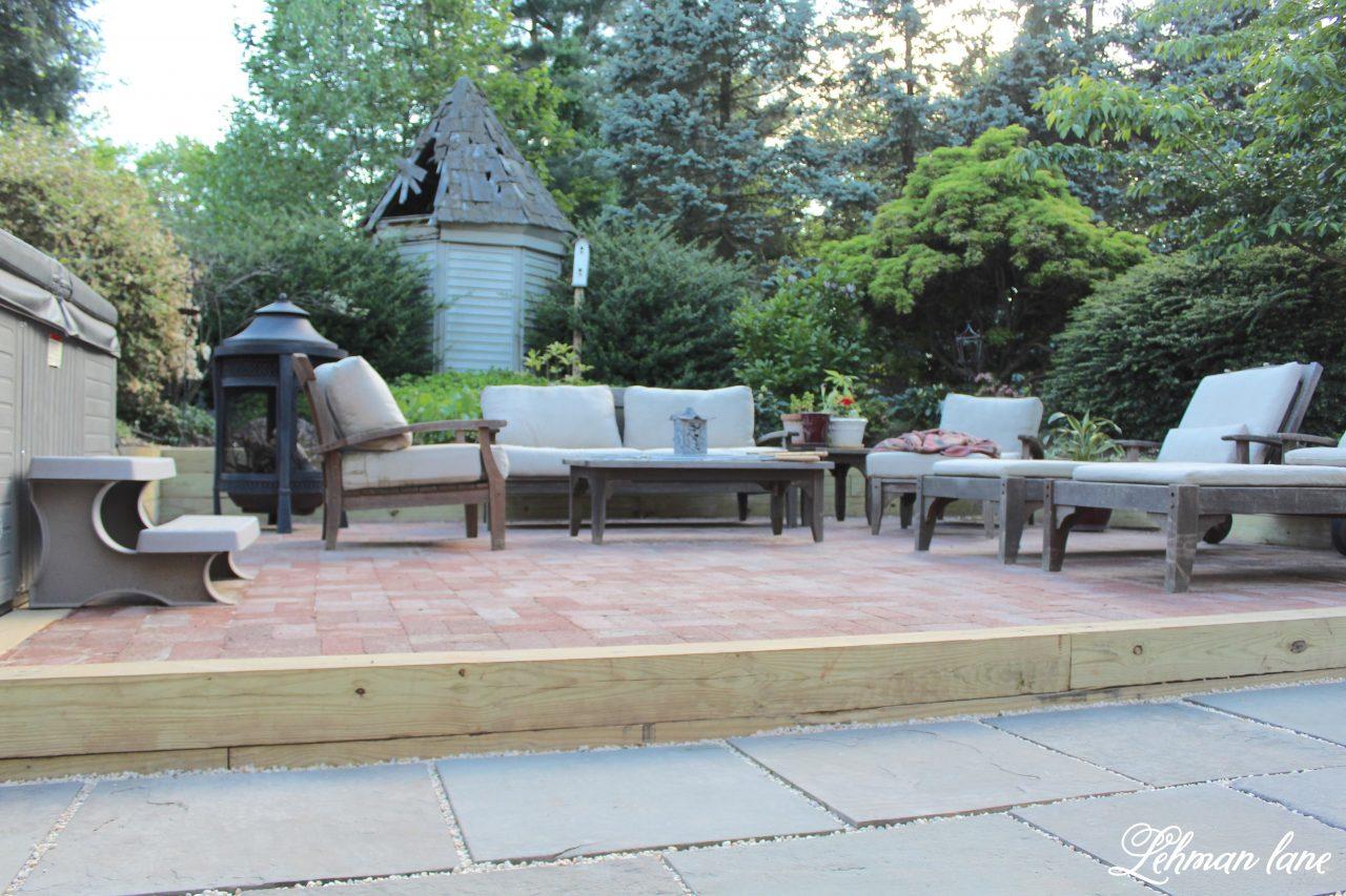 amazing diy brick patio on a budget