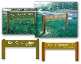 Kohl Construction Site signage