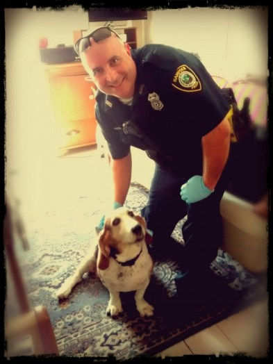 Marty was thinking of joining the Hampden K9 Corp but we don't have one.
