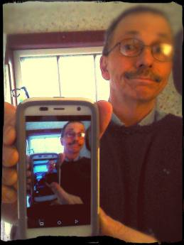 Selfie with MotoG. I wonder if AT&T calls it a GoPhone because it works in the can.