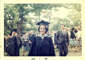 Her graduation from Boston College