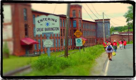 Crossing into the Housatonic are of Great Barrington, MA