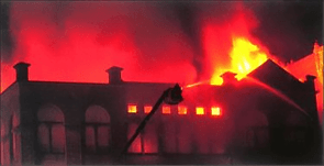Four alarm fire in March, 1983