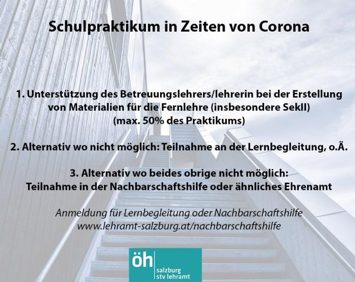Regelungen für Schulpraxis während Corona (Aussendung des ZPPS)