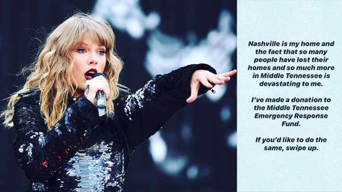 Taylor Swift Donates $1 Million to Tennessee Tornado Relief Says