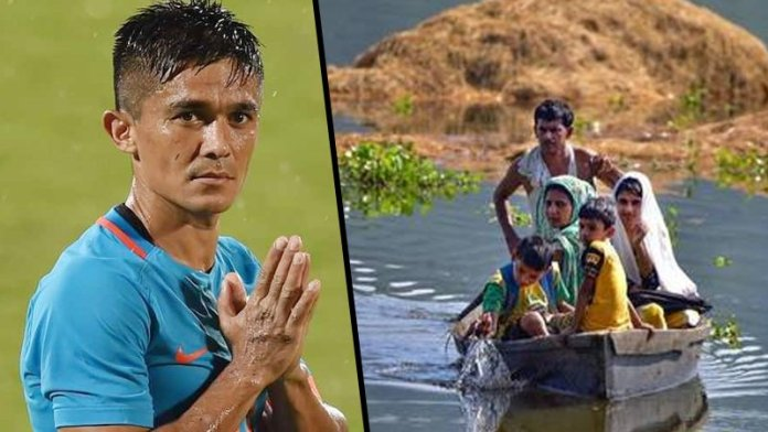 Sunil Chhetri urges Flood-hit Assam needs our attention and assistance