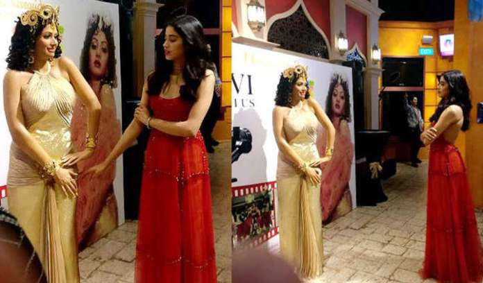 Janhvi Kapoor and family unveils the wax statue of Sridevi at Madame Tussauds