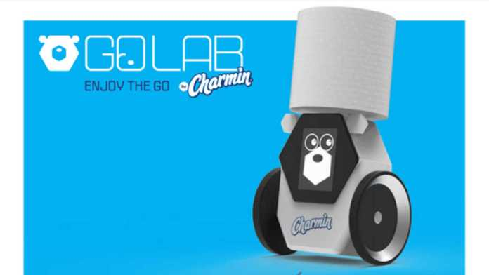 Robot that fetches toilet paper for person using bathroom debuts at CES