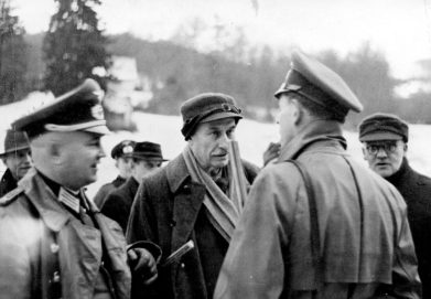 Leitz at a driven hunt during the war