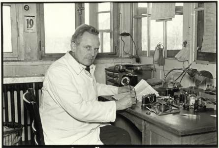 Oskar Barnack at his workbench