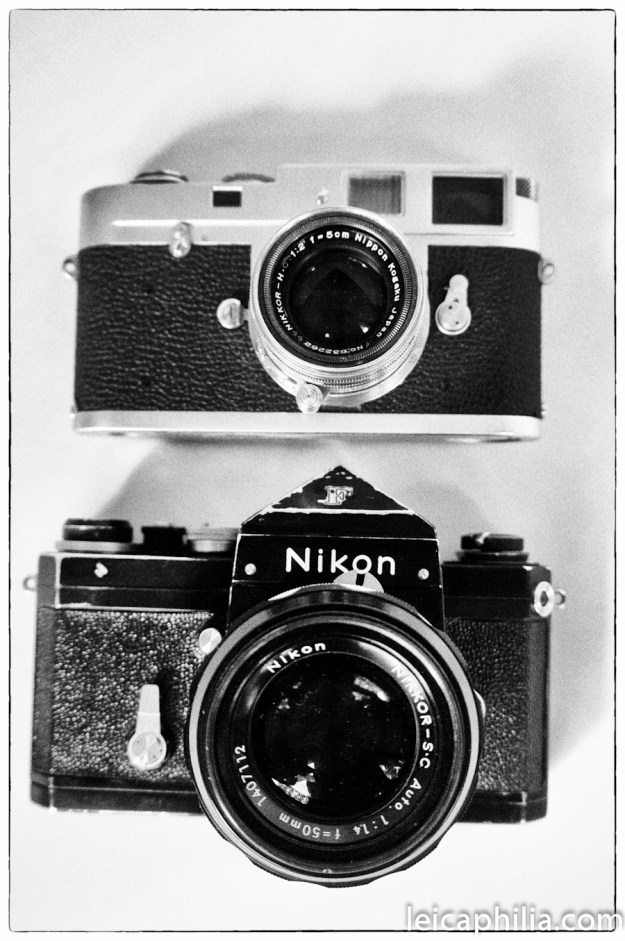 A Leica M2...and a Nikon F. A Tale of Two Cameras.