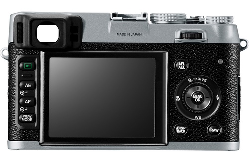 fuji x100 back Fuji X100 vs. Leica X1 specs comparison