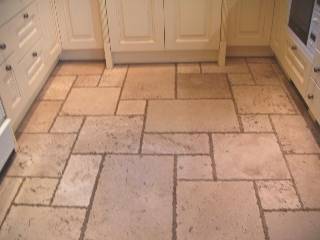 maintaining travertine tiled floors