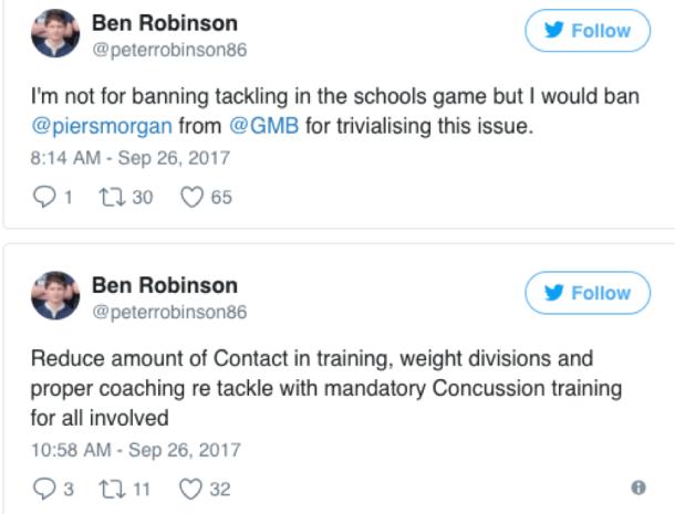 tweet robinson