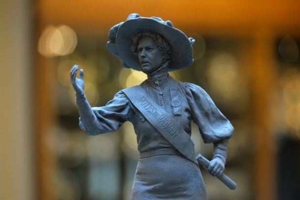 A small model of the Alice Hawkins statue. Source   Leicester City Council.