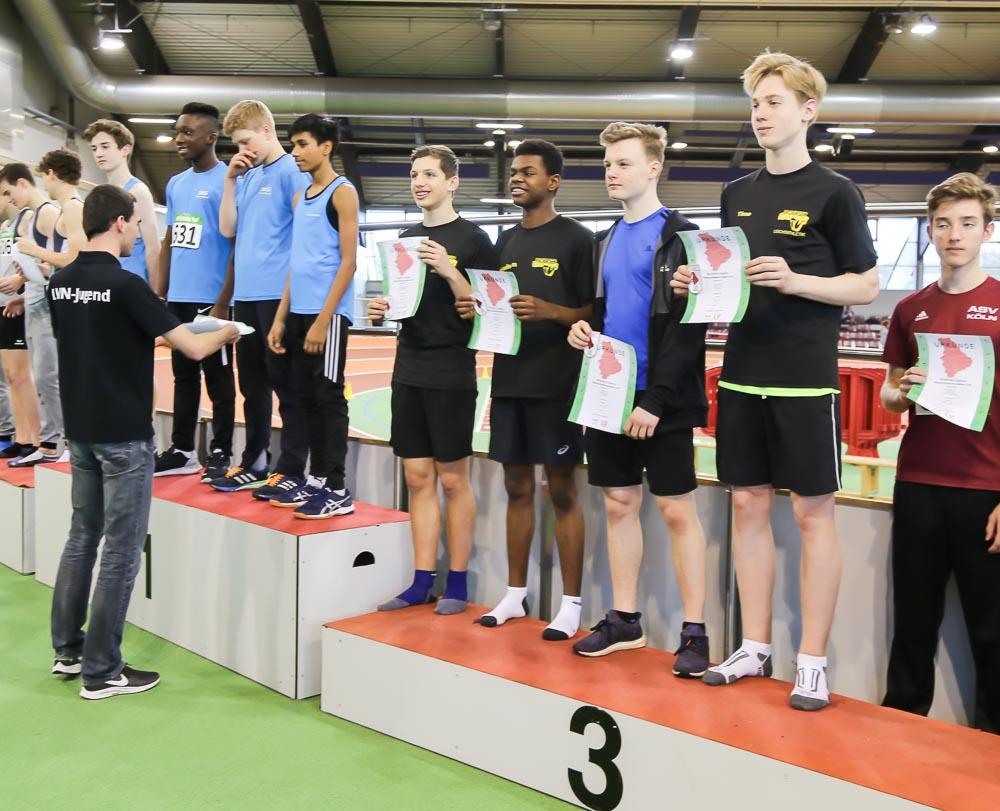 MTV U16 sammelte Podestplätze bei den Nordrhein-Hallenmeisterschaften