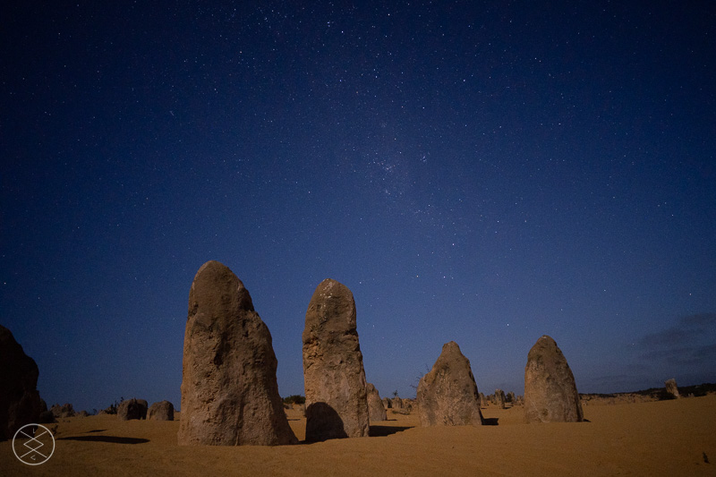 Pinnacles mit Sternenhimmel