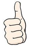 Daumen mit erhobenen Zeigefinger