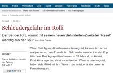 """""""Schleudergefahr im Rolli"""" – Die Welt"""