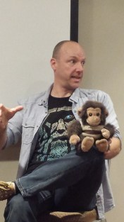 Alan Baxter and Eric the Demon Monkey