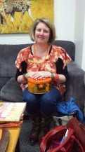 Orange shirt, orange beads, orange bangles