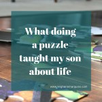 Goal: What a doing puzzle taught my son about life