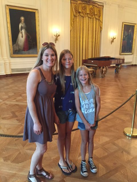Me and the girls at The White House this summer