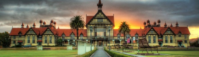 The majestic Rotorua Museum - one of Rotorua's stunning locations that inspire Leigh D'Ansey.
