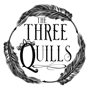 This logo represents The Three Quills, Jen Yates, Leigh D'Ánsey and Caroline Bagshaw.