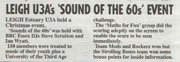 Sounds Of The Sixties - News Report
