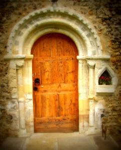 Door with cross