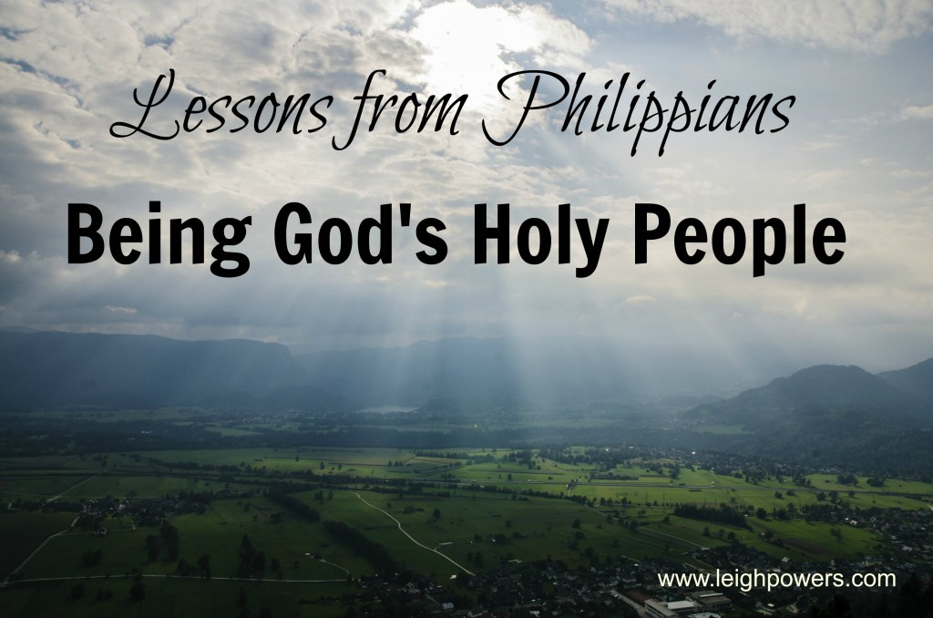 being God's holy people