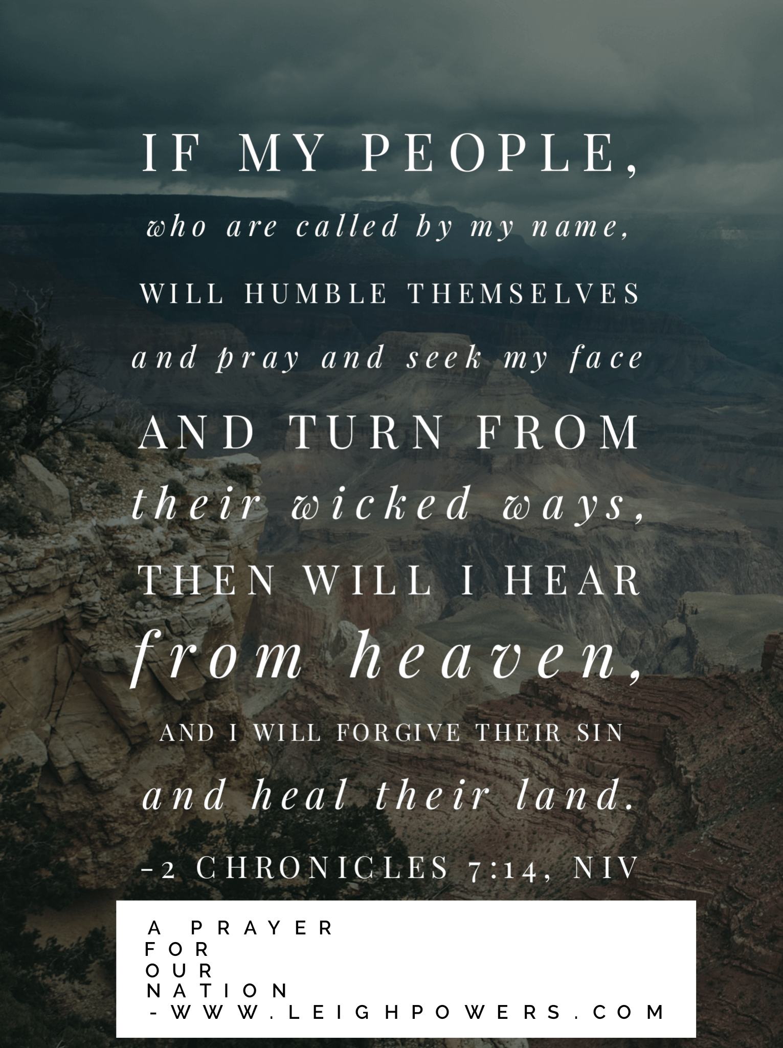 A Prayer for Our Nation.