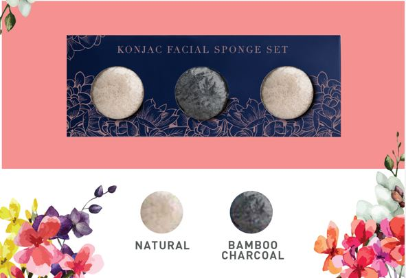 Motives Konjac Facial Sponge Set