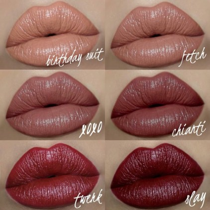 Motives Velvet Lipstick Swatches