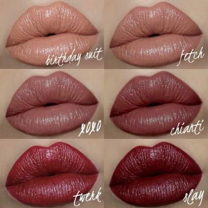 Motives Velvet Lipstick Swatches