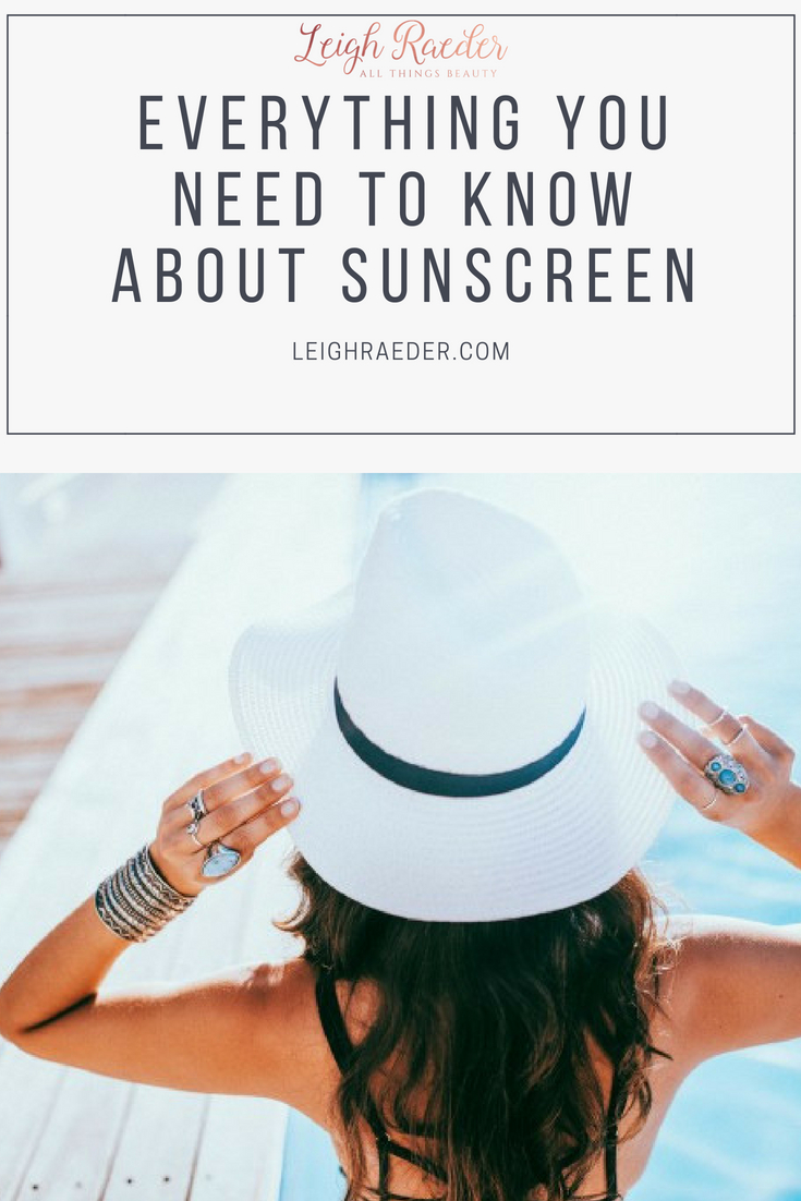Everything You Need to Know About Sunscreen-I'm sure that by now you know that wearing an sunscreen daily (not just when you're at the beach) is recommended. Are you confused by the choices?