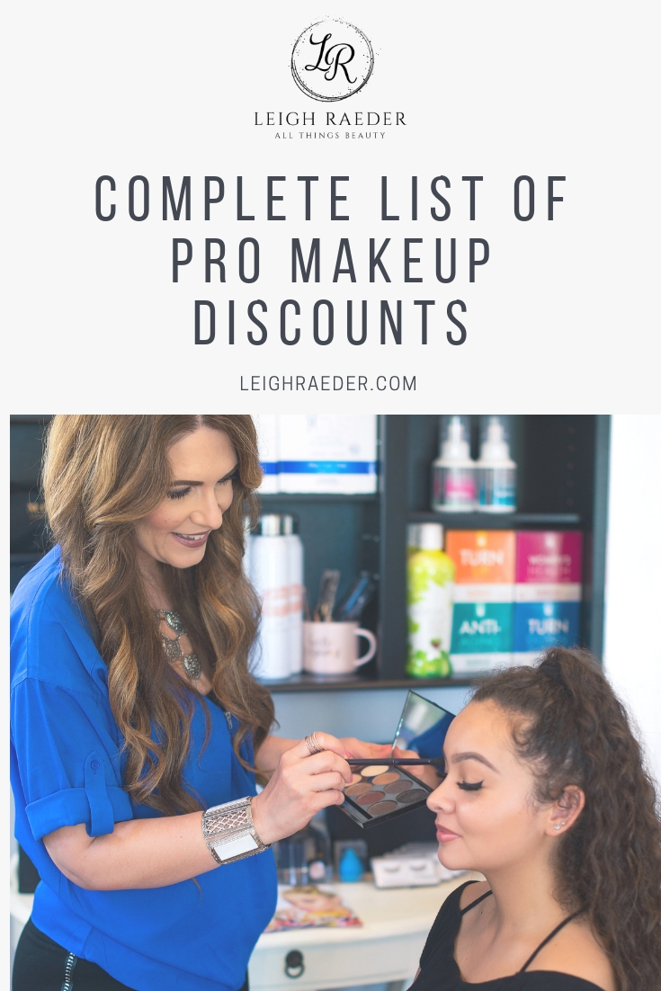 Are you a beauty professional? MOST brands out there do offer discounts on their products-and I have a pretty extensive Pro Makeup Discounts list for you!