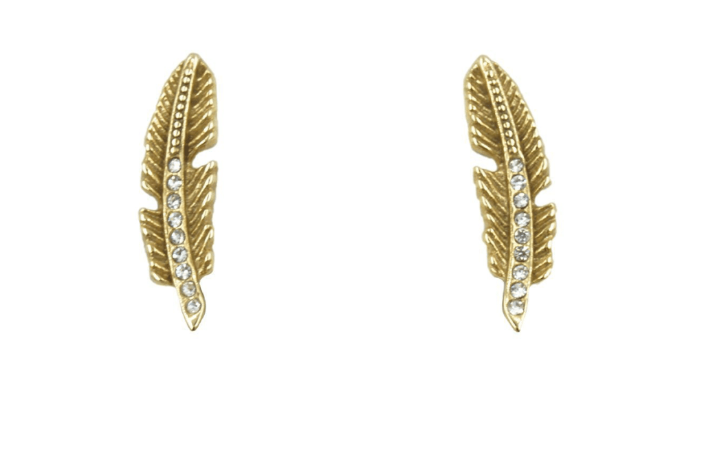 Kinsley Armelle Gold Quill Stud Earrings
