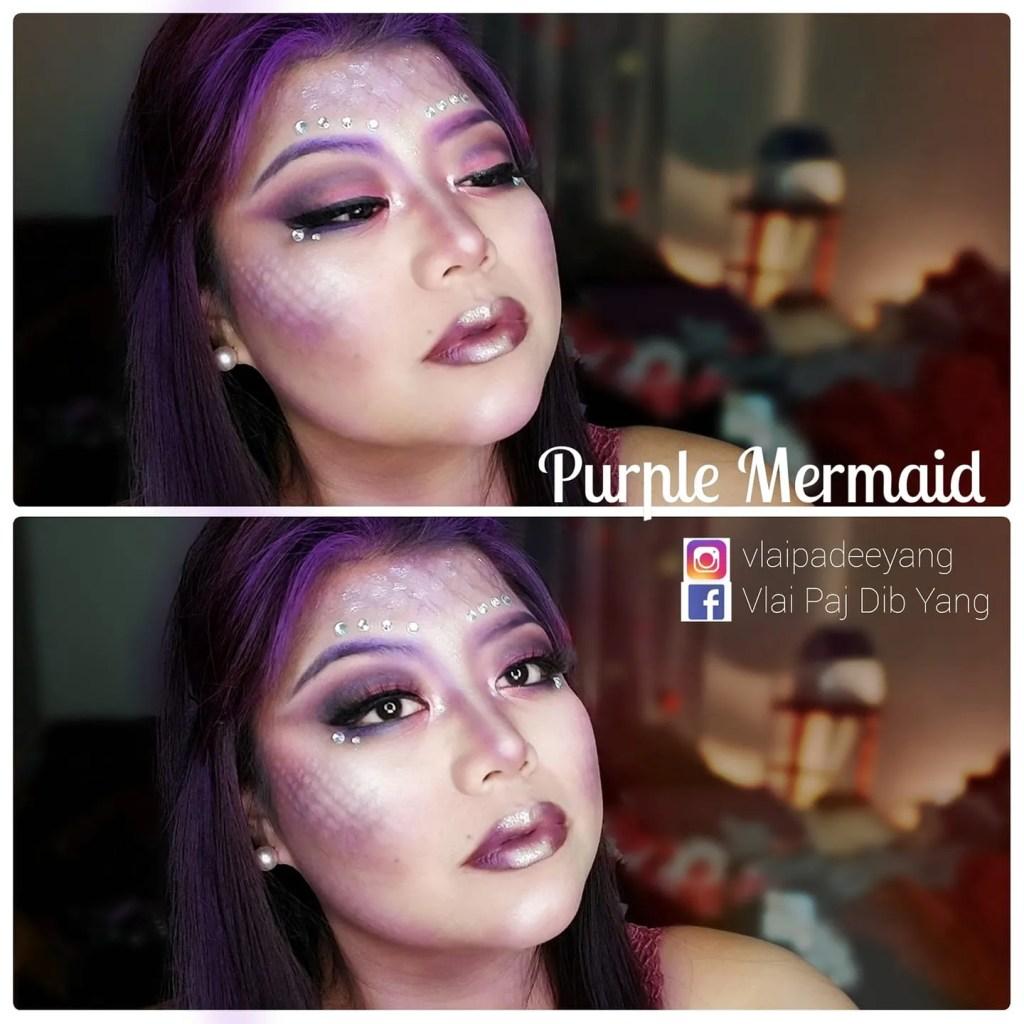 Purple Mermaid Halloween Makeup