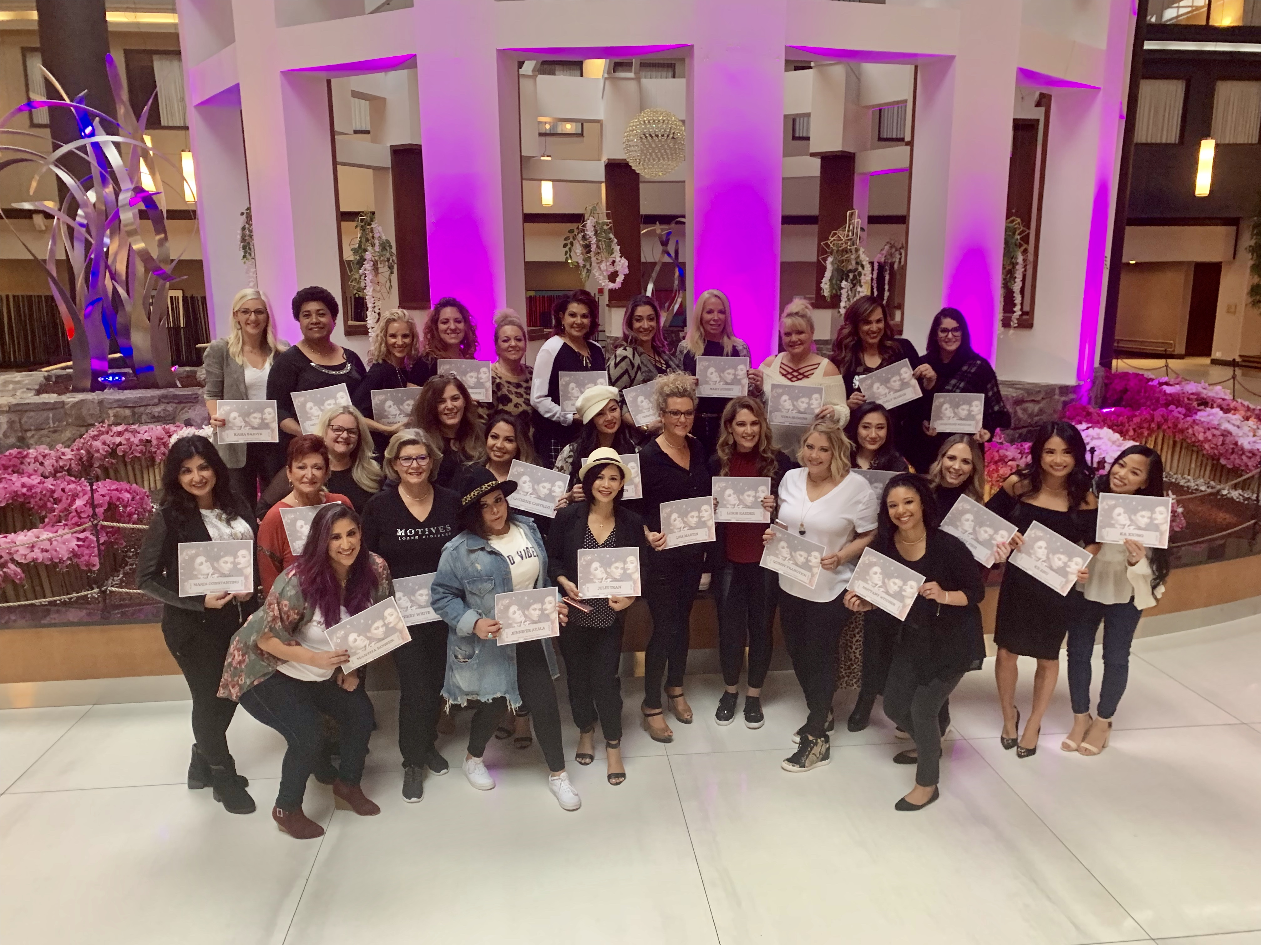 Celebrating Success with The Motives Cosmetics Trainers