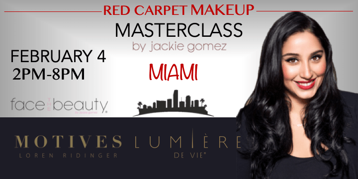 Red Carpet Makeup Masterclass with Jackie Gomez