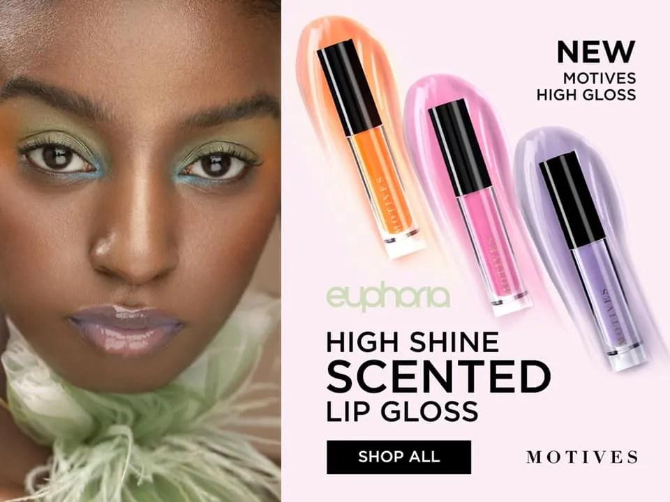 Spring Makeup Trend Alert: New Euphoria High Shine Scented Lip Gloss