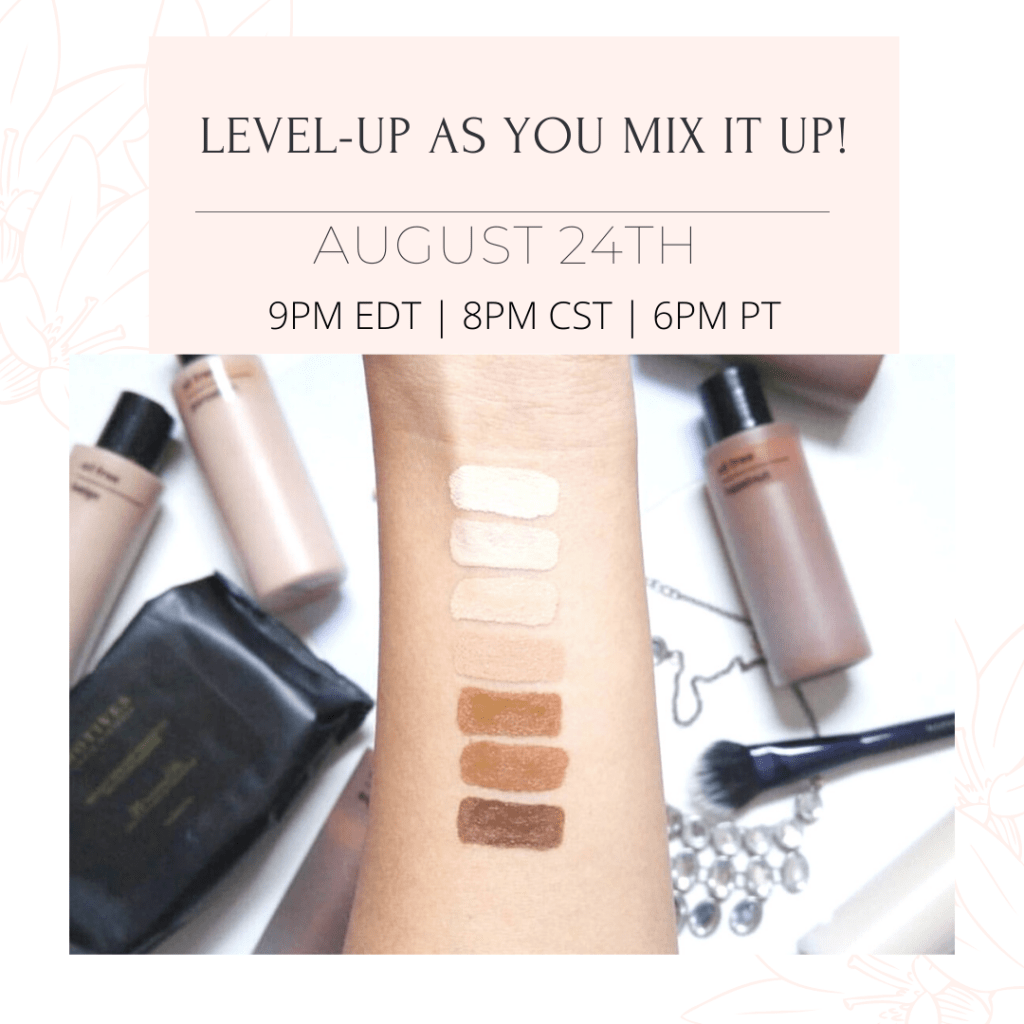 Custom Blend Cosmetics Free Live Sessions