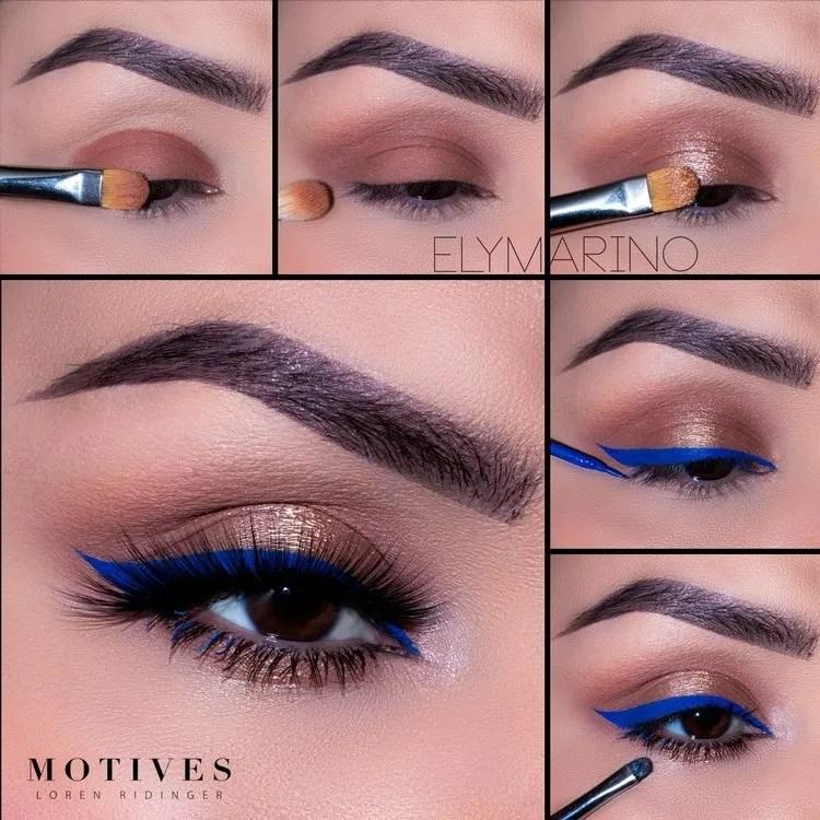4th of July Eye Makeup