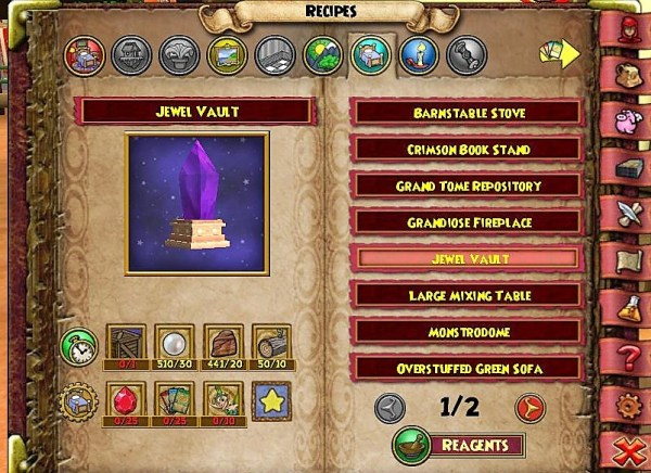 Jewel Vault Recipe