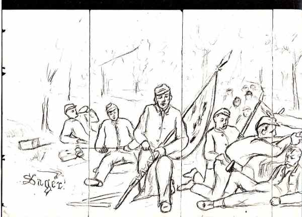 CIVIL WAR DRAWINGS OF GEORGE JOSIAH SAGER